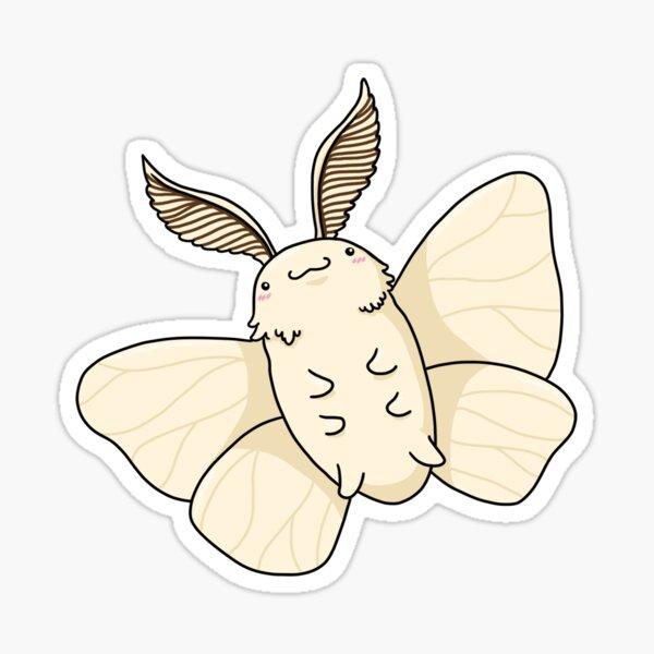 Kawaii Poodle moth Sticker