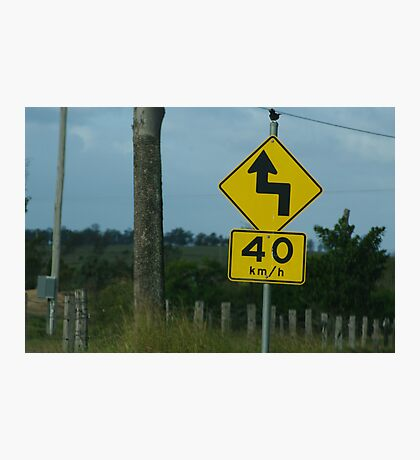 Australian roads Photographic Print