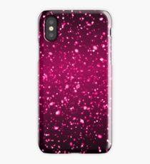 festive twinkling magenta glitter iPhone Case