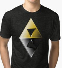 A Link Between Worlds Triforce Logo Tri-blend T-Shirt