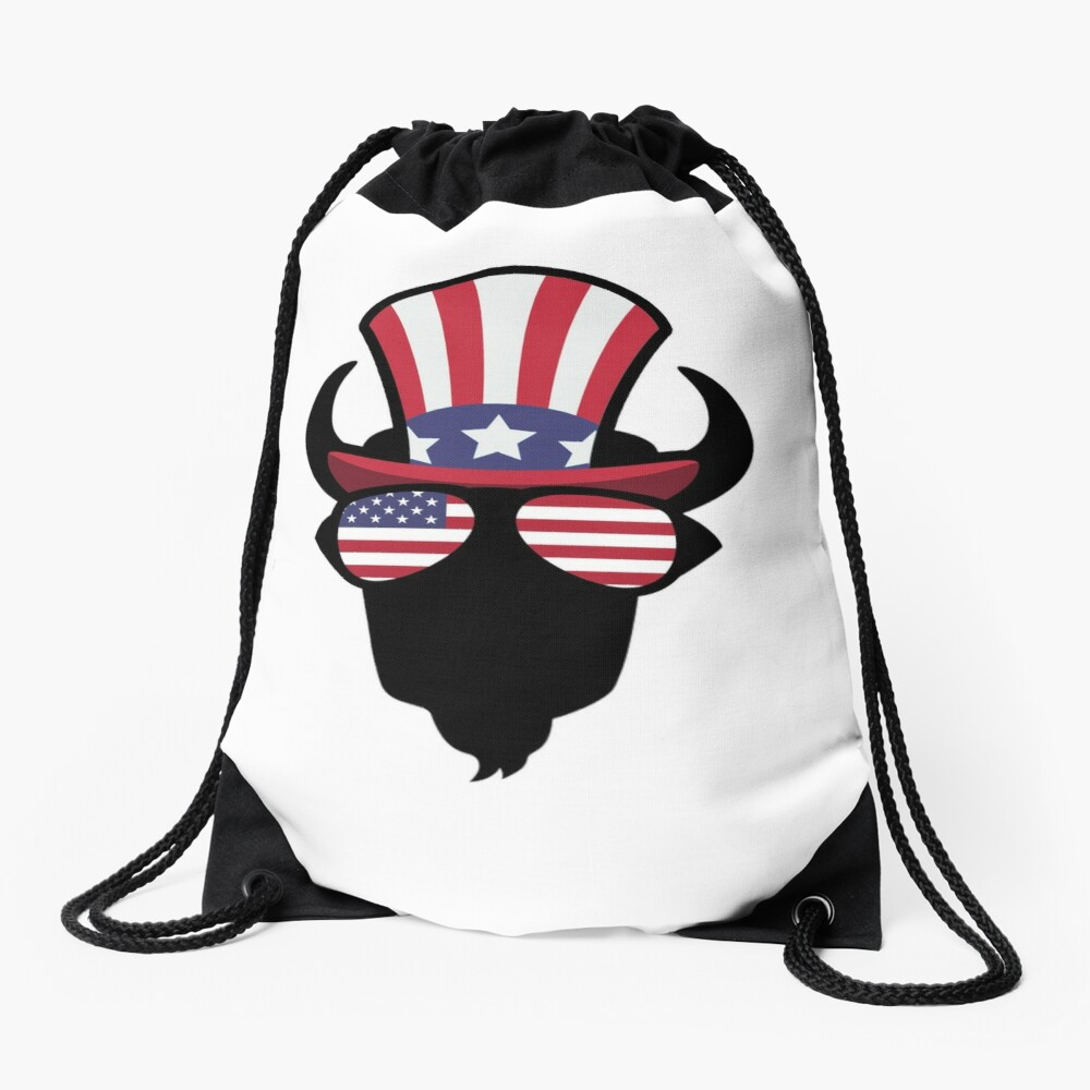 Buffalo Happy 4th Of July Mochila saco