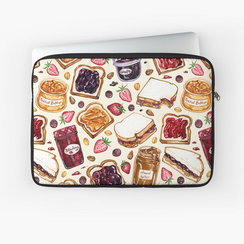 Erdnussbutter und Gelee Aquarell Laptoptasche