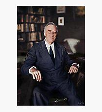 Franklin D. Roosevelt, 1945 colorized Photographic Print