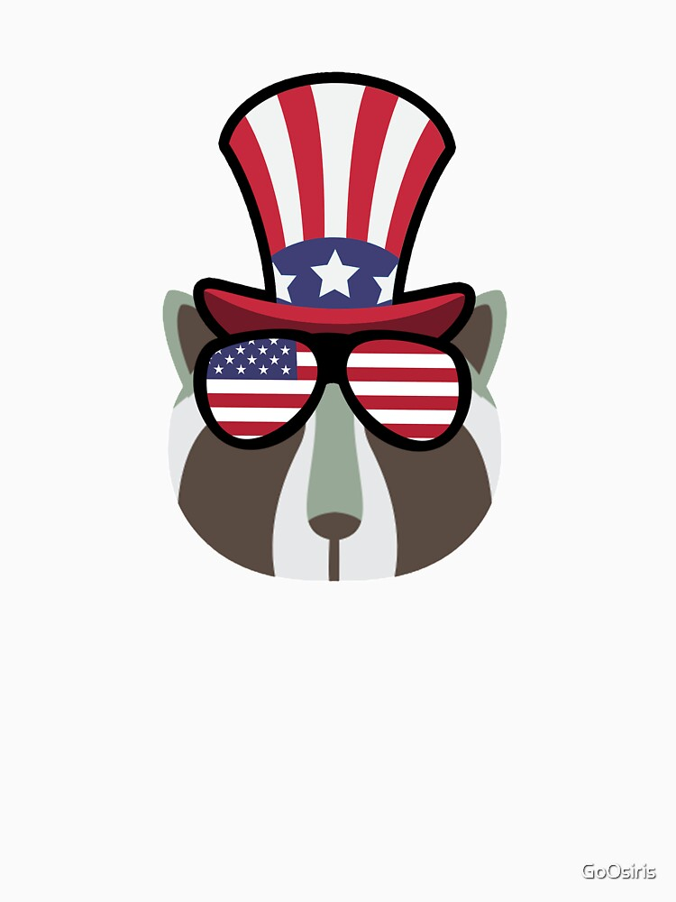 Racoon Happy 4th Of July de GoOsiris