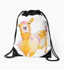 Agathe la chèvre - Agathe the Goat by CesPtitsPigments Drawstring Bag