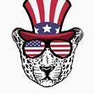 «Cheetah Happy 4th Of July» de GoOsiris