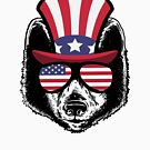 «Wolf Happy 4th Of July» de GoOsiris