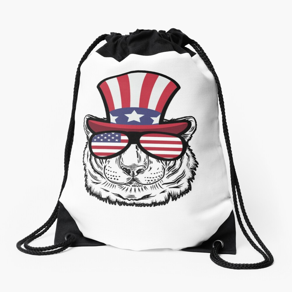 Tiger Happy 4th Of July Mochila saco