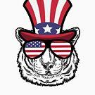«Tiger Happy 4th Of July» de GoOsiris