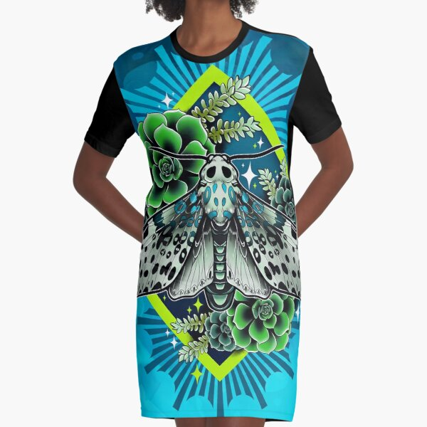 Leopard Moth Graphic T-Shirt Dress