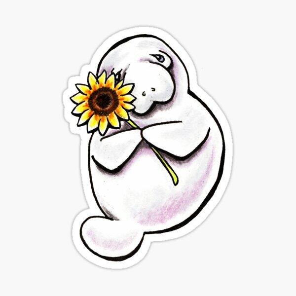 Sunny Manatee Sticker