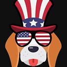 «Dog Happy 4th Of July» de GoOsiris