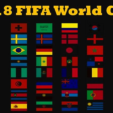 2018 World Cup Flags by teesbyveterans