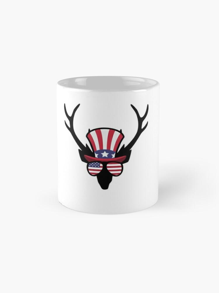 Vista alternativa de Taza Deer Happy 4th Of July