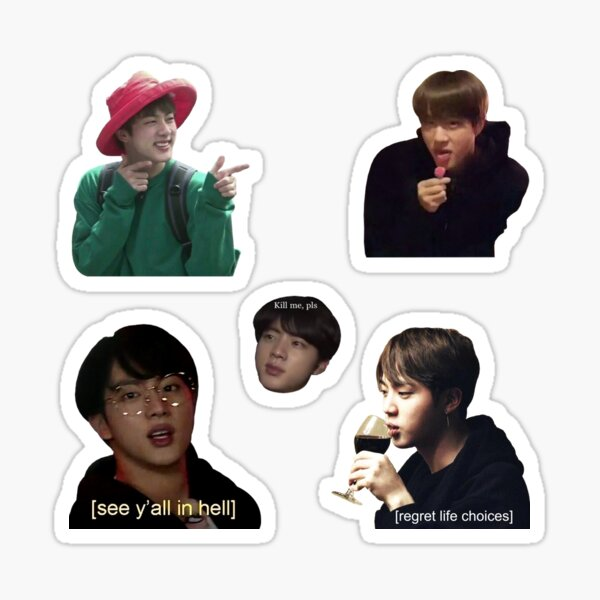 Jin collage Sticker