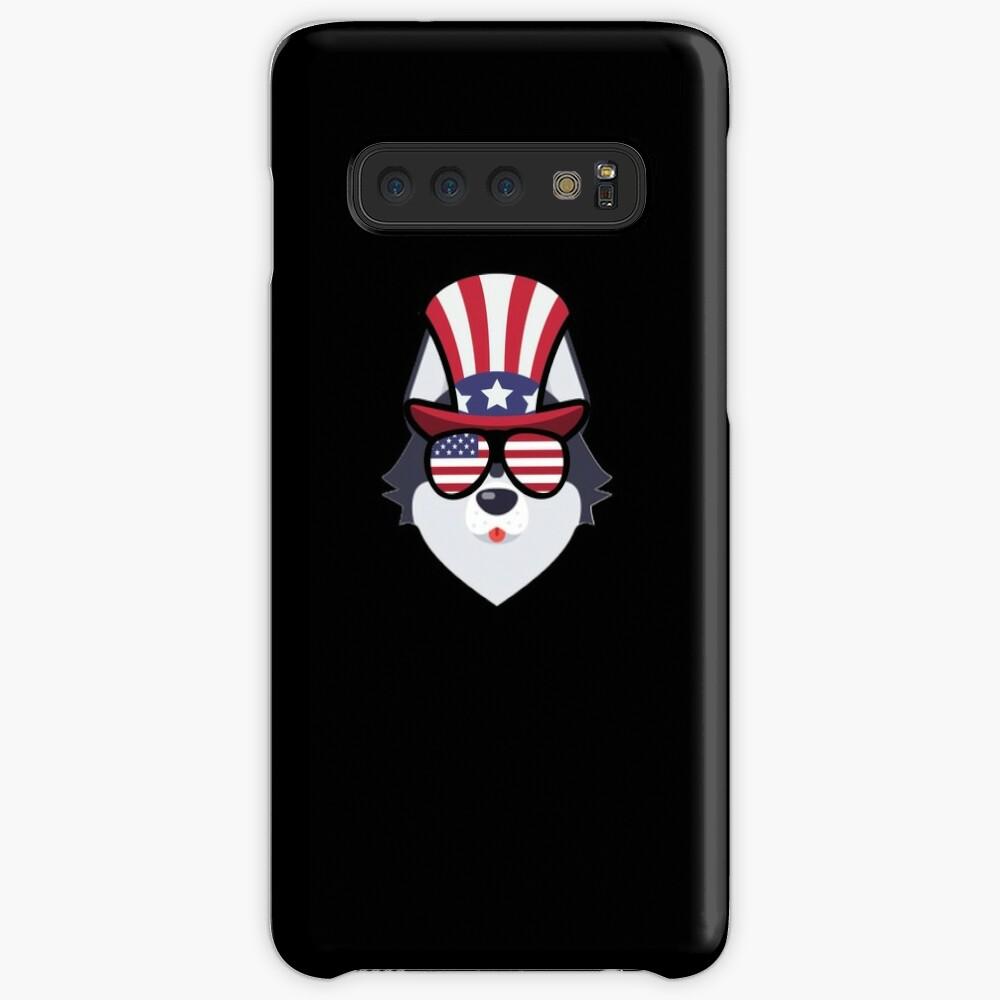 Husky Happy 4th Of July Funda y vinilo para Samsung Galaxy
