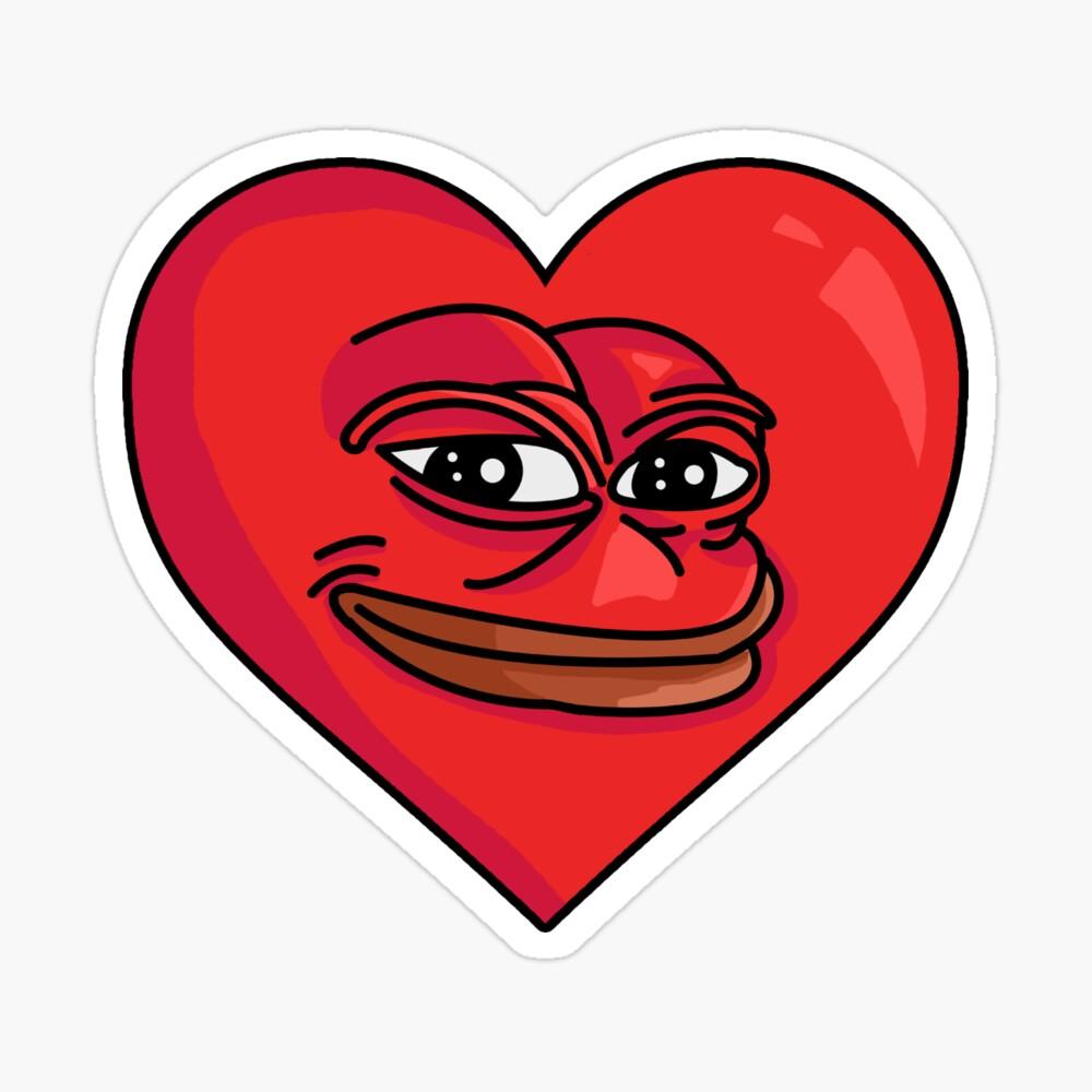 Fundas tarjetero para iPhone «Pepe corazón gracioso amor meme» de ...