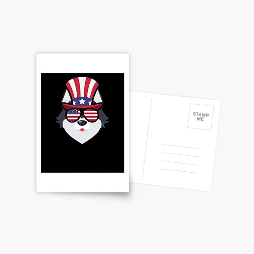 Husky Happy 4th Of July Postal