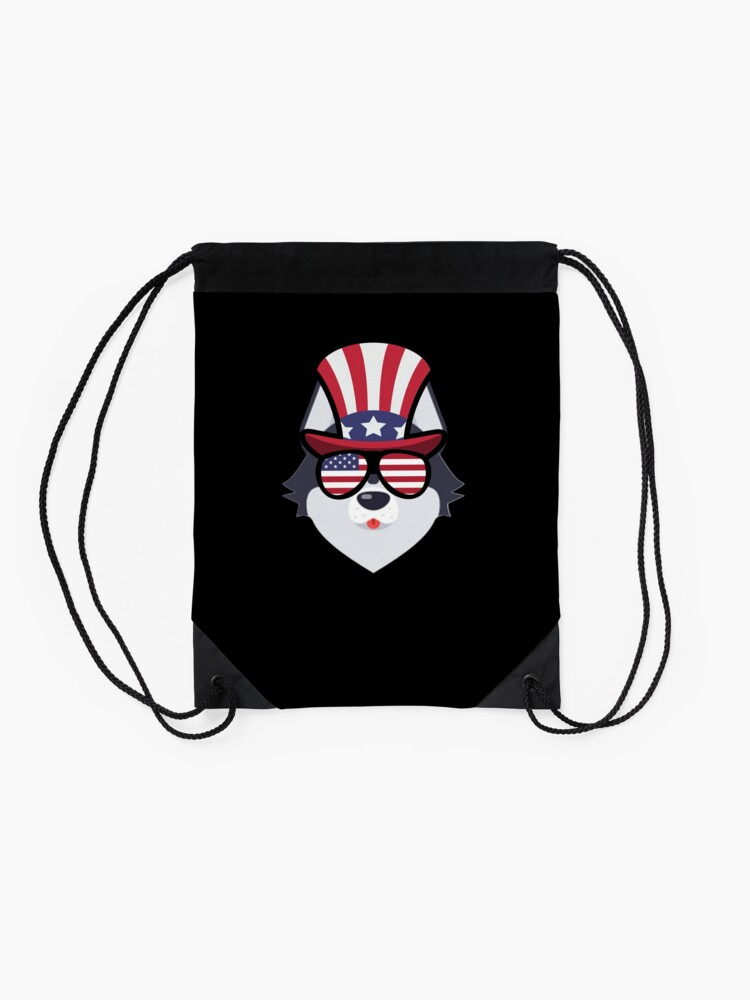 Vista alternativa de Mochila saco Husky Happy 4th Of July