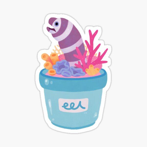 Eel flower pot 2 Sticker