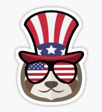 Sloth Happy 4th Of July Pegatina