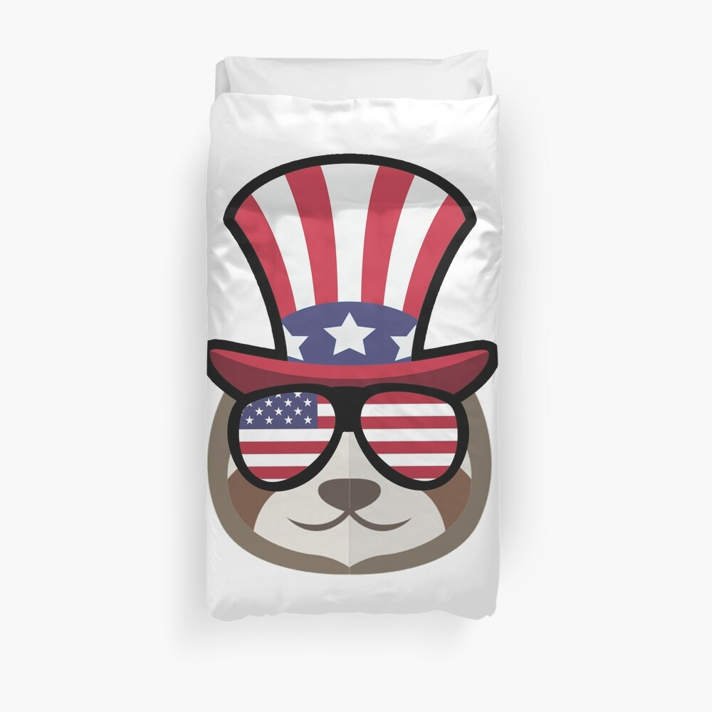 Sloth Happy 4th Of July Funda nórdica