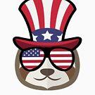 «Sloth Happy 4th Of July» de GoOsiris
