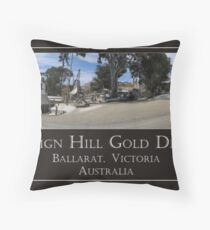 Sovereign Hill Gold Diggings Throw Pillow