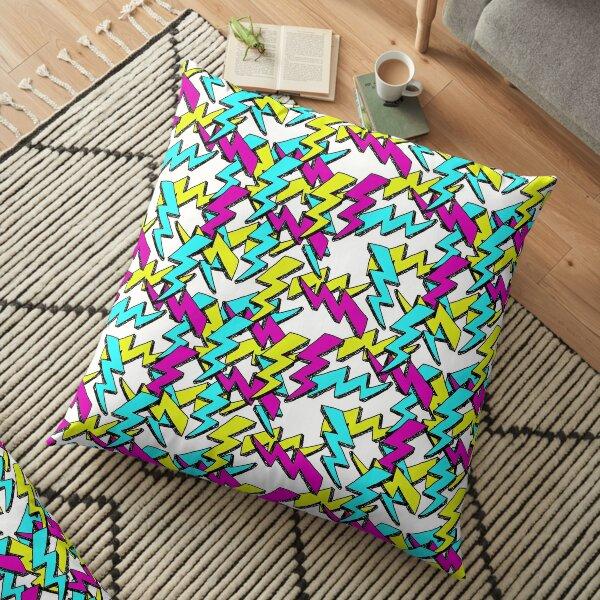 LIGHTNING BOLT DOODLES Floor Pillow