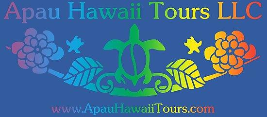 Apau Hawaii Tours - Sea Turtle & Gardenia Flower Logo by ApauHawaiiTours