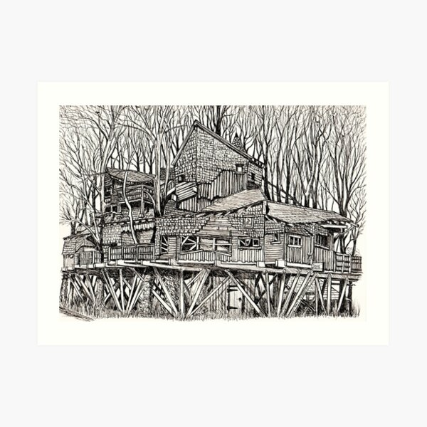 Alnwick Gardens Tree House Art Print