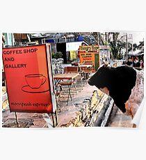 cow espresso. himachal pradesh, india Poster