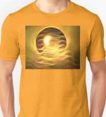 Peach Eclipse Ribbons Unisex T-Shirt