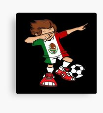 Dabbing Mexican Footballer T Shirt Soccer World Cup 2018 Mexico as a gift idea Canvas Print