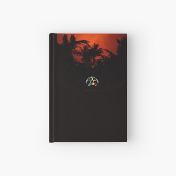 Morning Chat with Apau Hawaii Tours Hardcover Journal