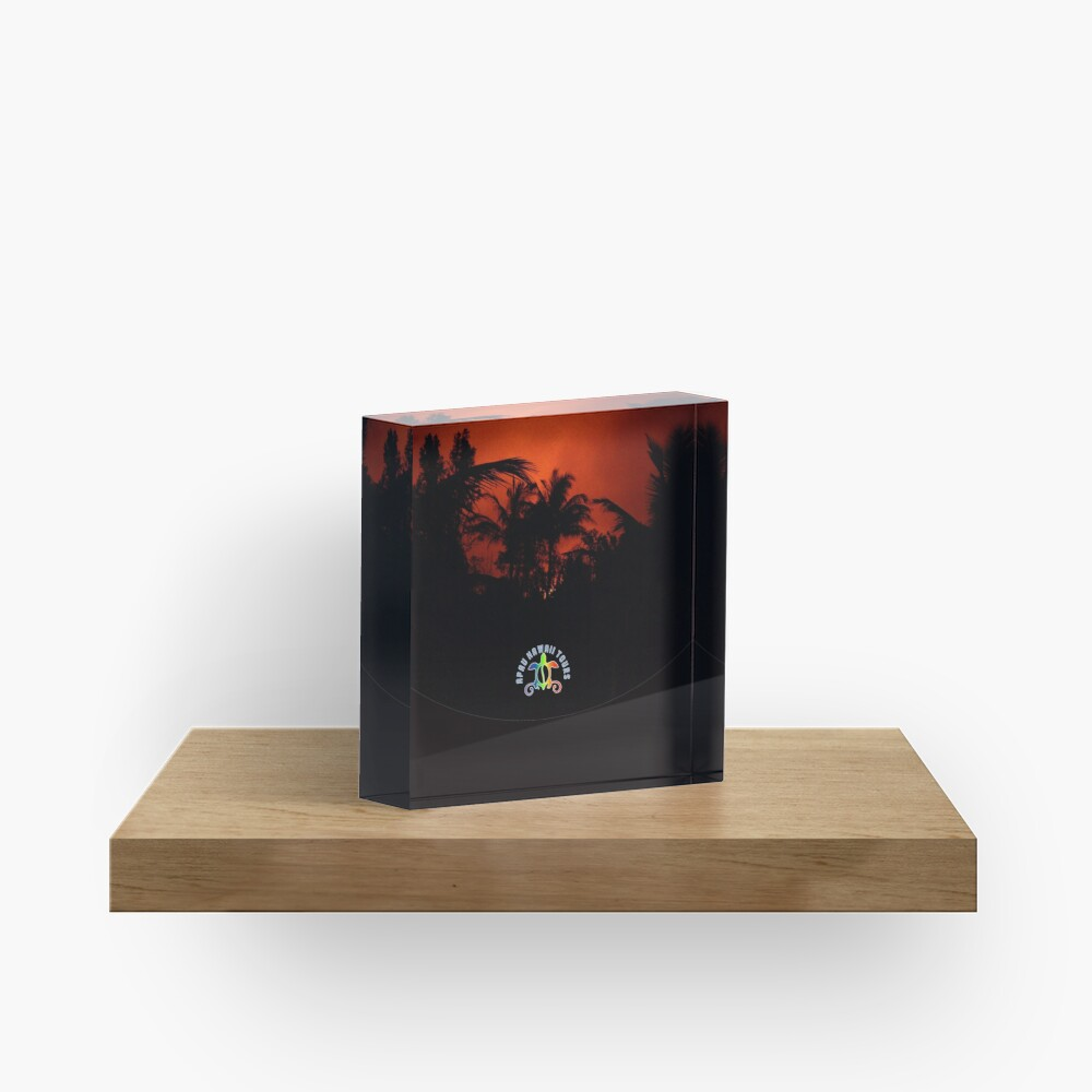 Morning Chat with Apau Hawaii Tours Acrylic Block
