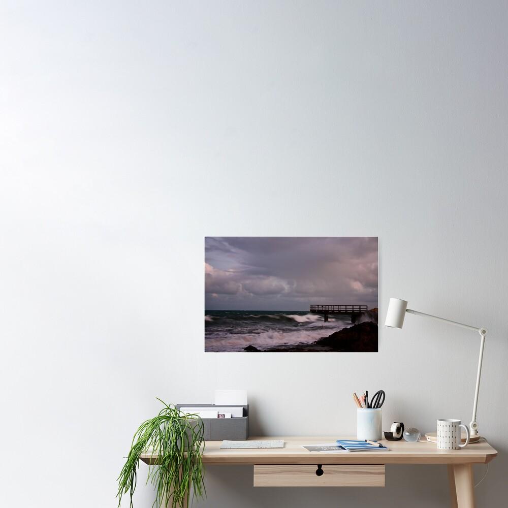 Pier - before dawn light Poster