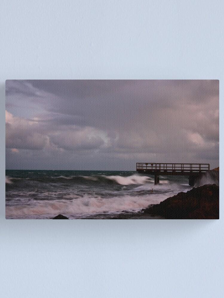 Alternate view of Pier - before dawn light Canvas Print