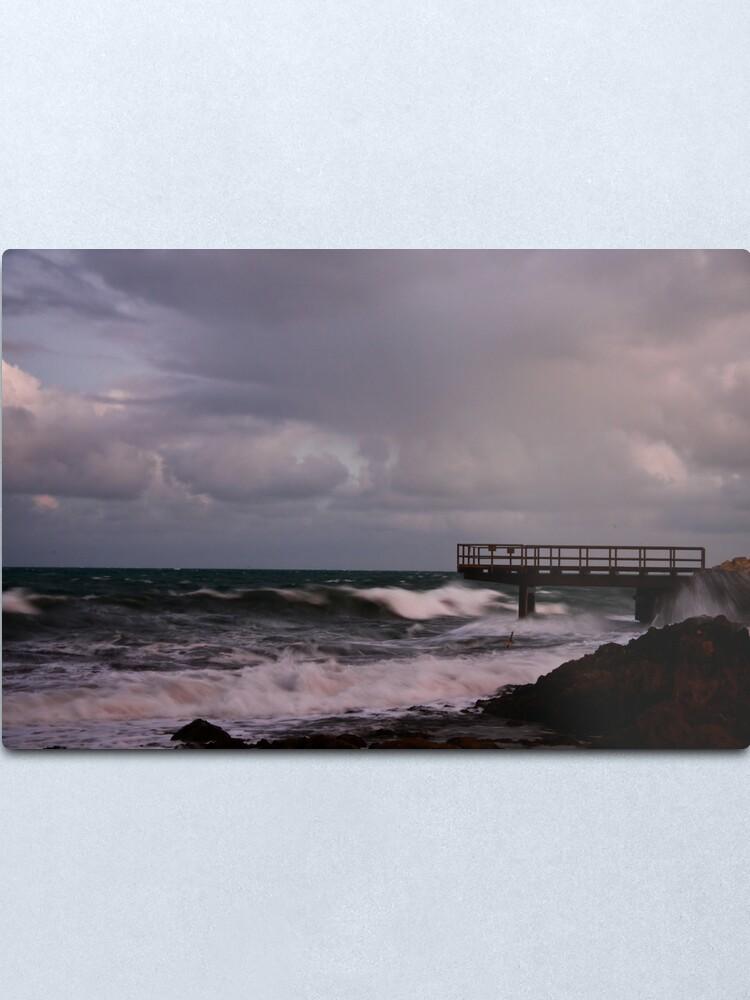 Alternate view of Pier - before dawn light Metal Print