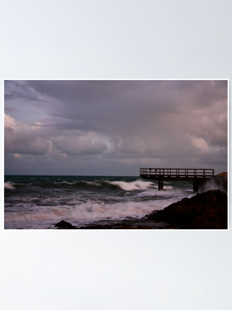 Alternate view of Pier - before dawn light Poster