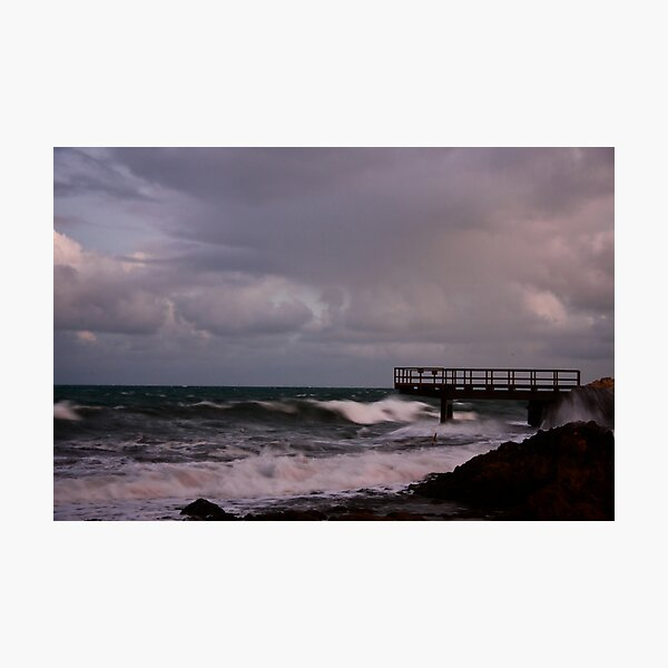 Pier - before dawn light Photographic Print