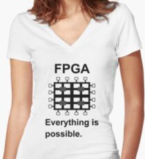 FPGA Women's Fitted V-Neck T-Shirt