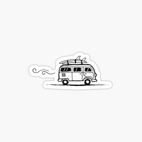 little surfer's van Sticker