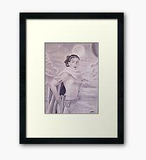 Princess Padme Black and White Framed Print
