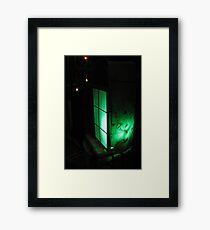 Green Lantern at Waters Edge Framed Print