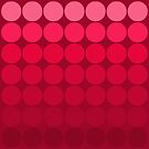Mod Pop Circles in red tones by dbvisualarts