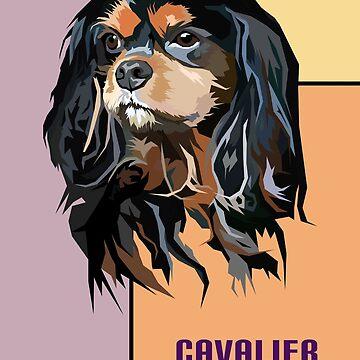Cavalier King Charles Spaniel Dog  - Light by KingdomArt101