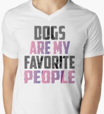 Dogs Are My Favorite People Shirt - Fur Mama, Mothers Day Shirt,Dog Lover Gift,Dog Lover Shirt, Dog Mom, Dog Lover T Shirt, Funny Dog Shirt Men's V-Neck T-Shirt