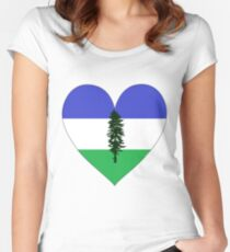 From Cascadia With Love Women's Fitted Scoop T-Shirt