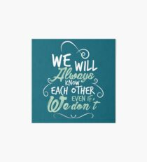 Tilly quote - green Art Board